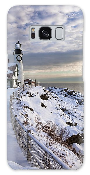 Winter At Portland Head Galaxy Case