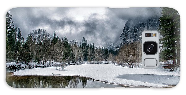 Winter At Swinging Bridge Galaxy Case
