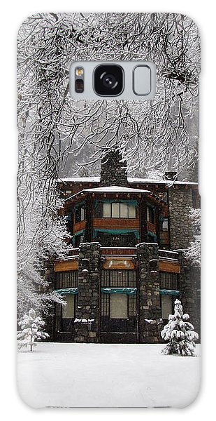Winter At The Ahwahnee In Yosemite Galaxy Case