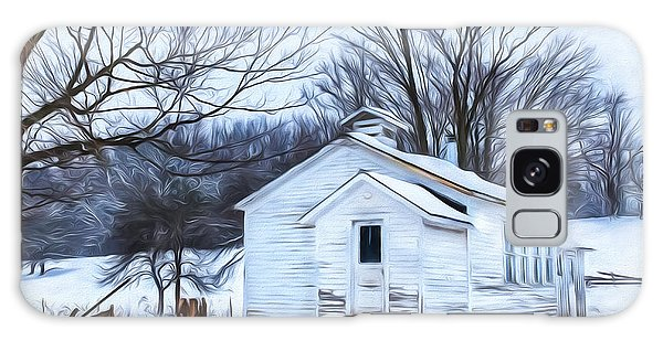 Winter At The Amish Schoolhouse Galaxy Case