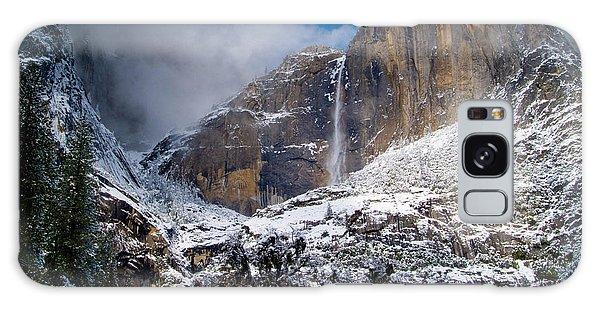 Winter At Yosemite Falls Galaxy Case