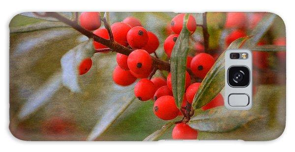 Winter Berries Galaxy Case by Linda Segerson