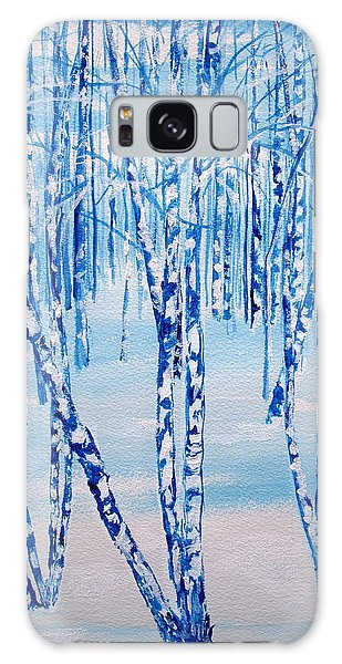 Winter Birch Galaxy Case by Ellen Canfield