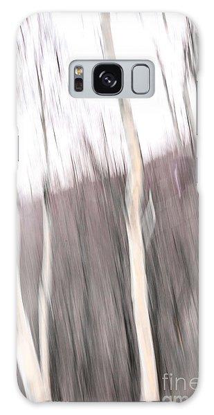 Winter Birches Tryptich 1 Galaxy Case