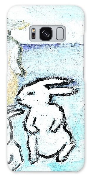 Winter Bunnies Galaxy Case by Michael Dohnalek