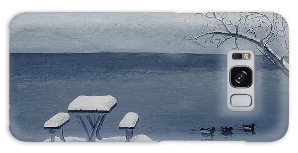 Winter By The Lake Galaxy Case