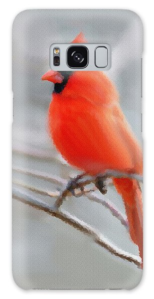 Winter Cardinal Galaxy Case