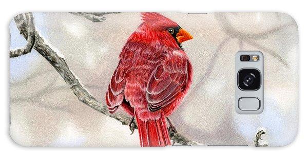 Cardinal Galaxy Case - Winter Cardinal by Sarah Batalka