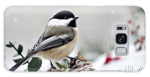 Galaxy Case featuring the photograph Winter Chickadee by Christina Rollo