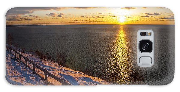 Winter Cliffs On Lake Michigan Galaxy Case