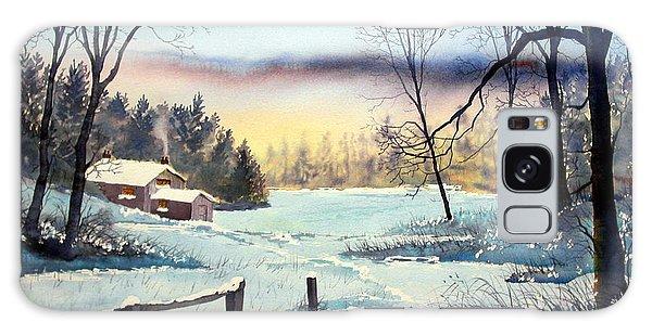 Winter Cottage Galaxy Case