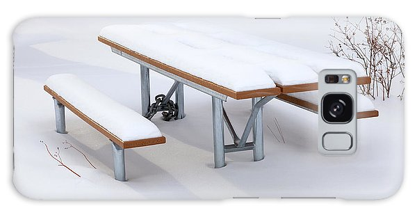 Picnic Table Galaxy Case - Winter Cover by Mike  Dawson