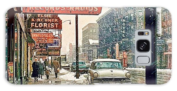 Winter Day On Euclid Avenue Galaxy Case by Ludwig Keck