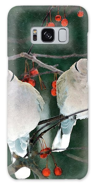Winter Doves Galaxy Case