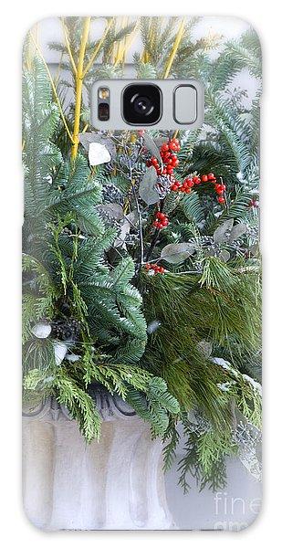 Winter Floral Arrangement Galaxy Case by Birgit Tyrrell