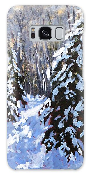 Winter Forest Walk Galaxy Case