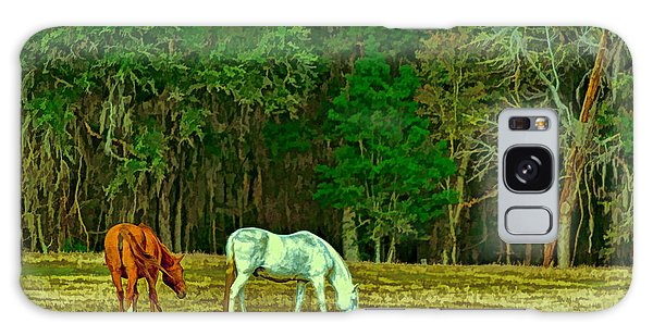 Winter Grazing In North Florida Galaxy Case by Lewis Mann