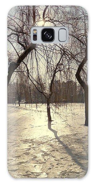 Willows In Winter Galaxy Case by Henryk Gorecki