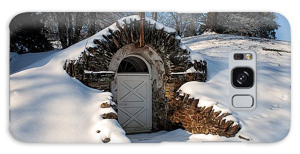 Winter Hobbit Hole Galaxy Case by Michael Porchik