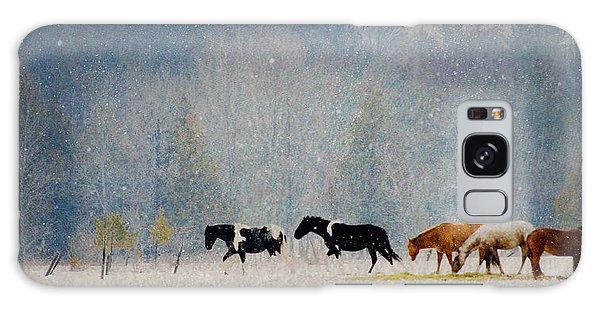 Winter Horses Galaxy Case
