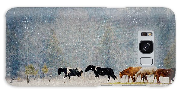 Winter Horses Galaxy Case