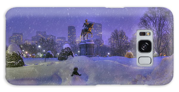 Winter In Boston - George Washington Monument - Boston Public Garden Galaxy Case