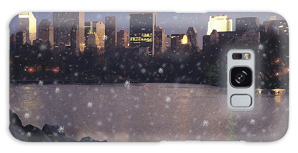 Winter In Central Park Galaxy Case