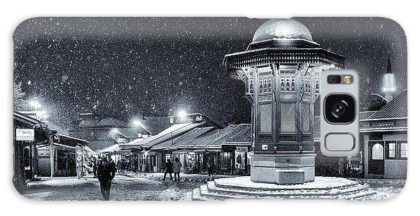 Town Square Galaxy Case - Winter In Sarajevo by Bez Dan