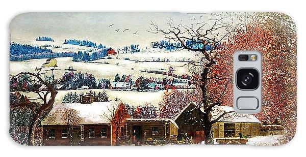 Winter In The Country Folk Art Galaxy Case