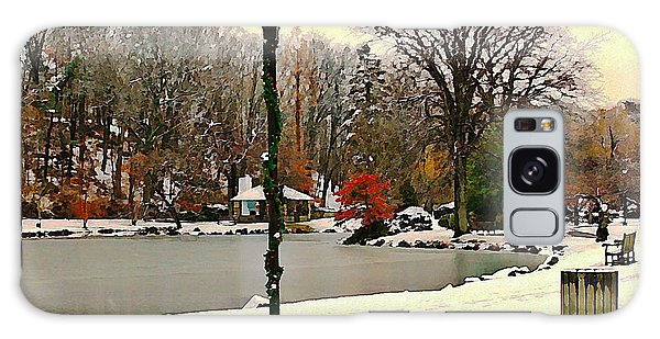 Winter In The Park Galaxy Case by Judy Palkimas
