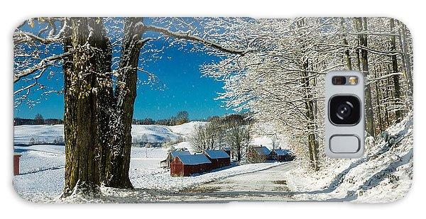 Winter In Vermont Galaxy Case