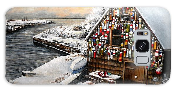 Winter Ipswich Bay Wooden Buoys  Galaxy Case