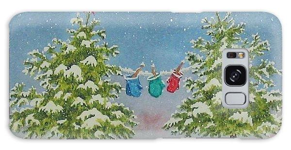 Winter Is Fun Galaxy Case by Mary Ellen Mueller Legault
