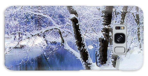 Winter Landscape Yosemite Valley Galaxy Case