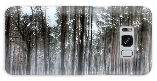 Winter Light In A Forest With Dancing Trees Galaxy Case