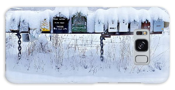 Winter Mailbox Panorama Galaxy Case