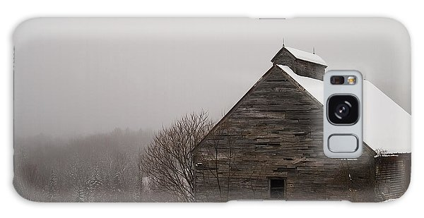 Winter Maine Barn Galaxy Case