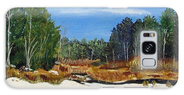 Winter Marsh In Hooksett Galaxy Case