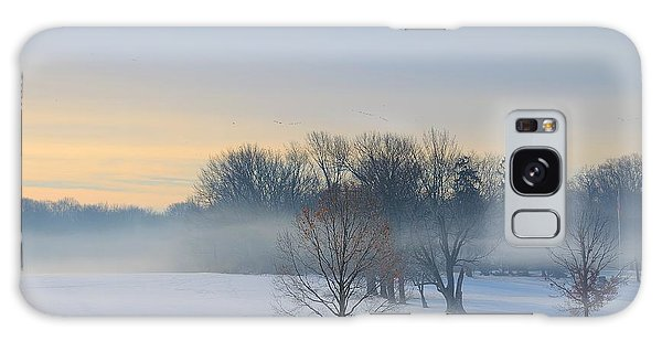 Winter Morning Fog Galaxy Case by Steven Richman