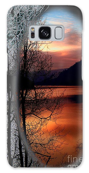 Winter Morning Galaxy Case by Loni Collins