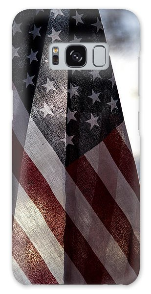 Winter Morning Patriotism Galaxy Case