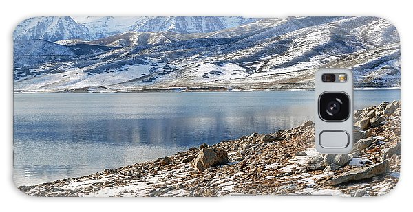Winter Mt. Timpanogos And Deer Creek Reservoir Galaxy Case