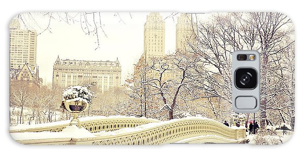 Winter - New York City - Central Park Galaxy Case