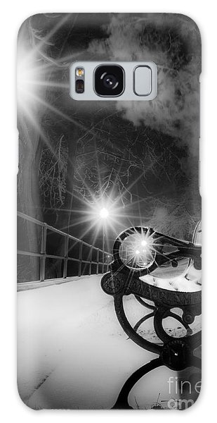 Winter Night Along The River Galaxy Case