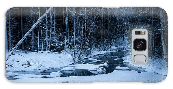 Winter Night At The River Galaxy Case
