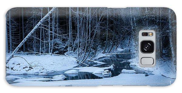 Winter Night At The River Galaxy Case by Teemu Tretjakov