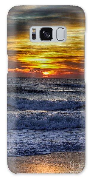 Winter North Carolina Sunrise Galaxy Case by Tony Cooper