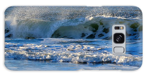 Winter Ocean At Nauset Light Beach Galaxy Case