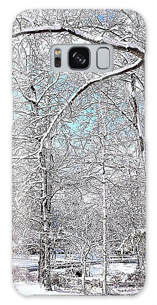 Winter On A Spring Day Galaxy Case