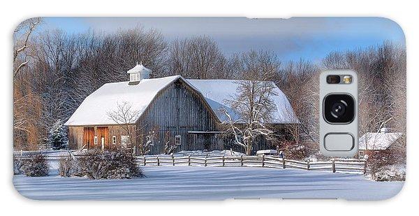 Winter On The Farm 14586 Galaxy Case
